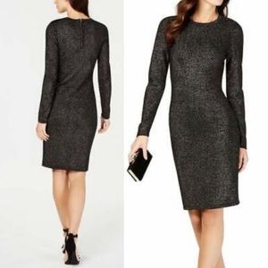 Vince Camuto Shimmering Knit Sheath Dress